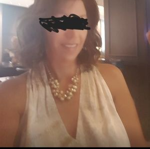 White House Black Market shirt and necklace set